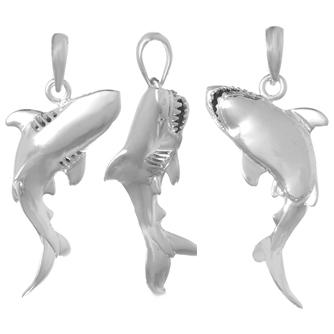 Shark pendants fishing jewelry nautical jewelry shark pendant aloadofball Choice Image